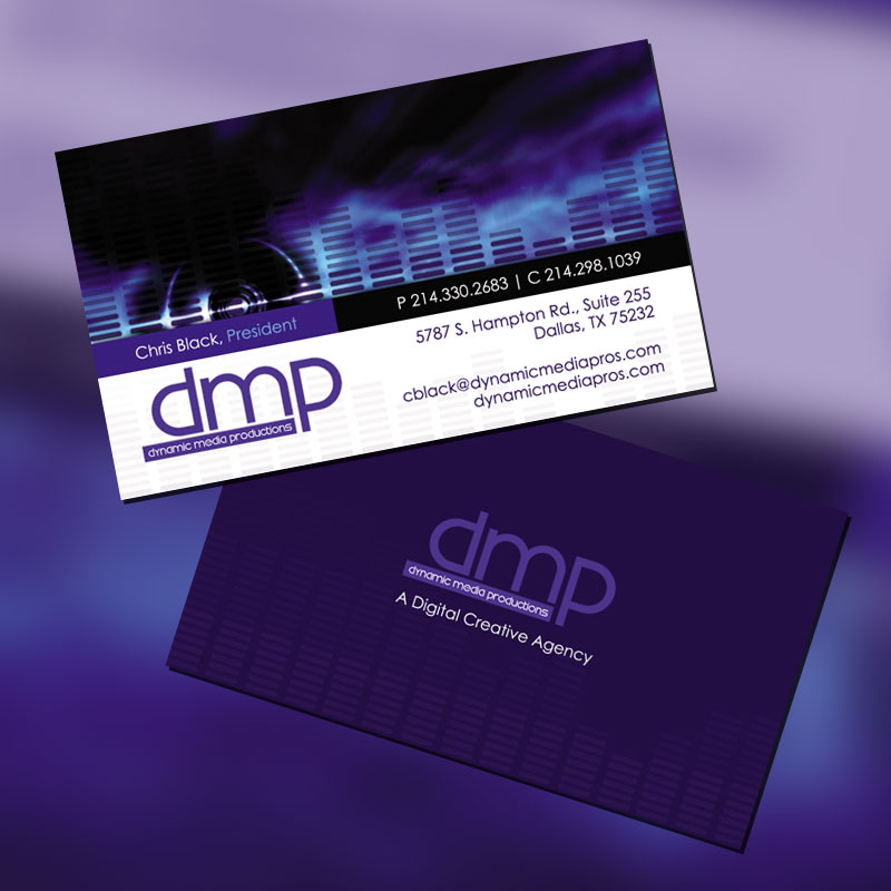 Dynamic Media Productions Business Card